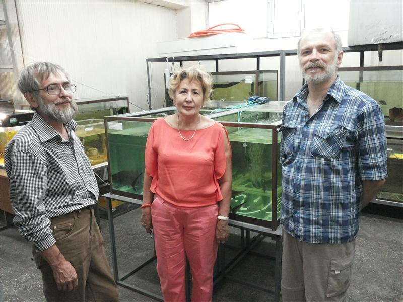 Excursion of Russian scientists to the aquarium laboratory