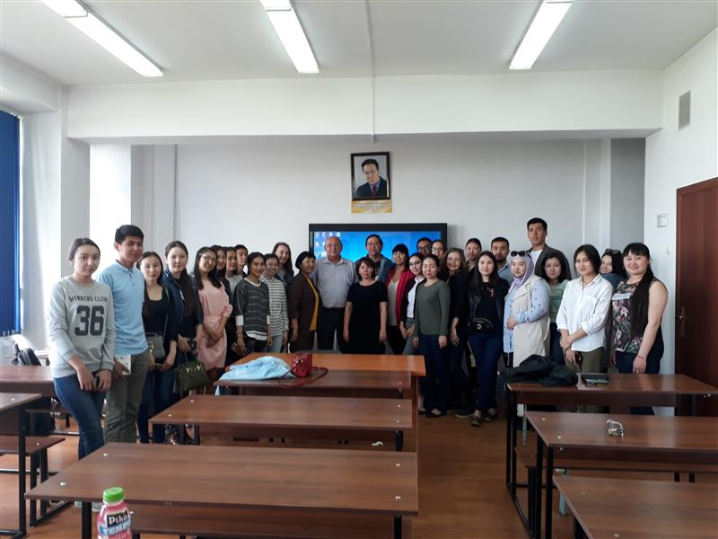 Meeting with a successful graduate SR. Temirkhanov