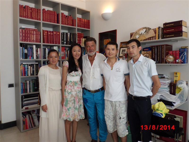 Our students with prof. Remo Ruffini and PhD Kuantay Boshkayev