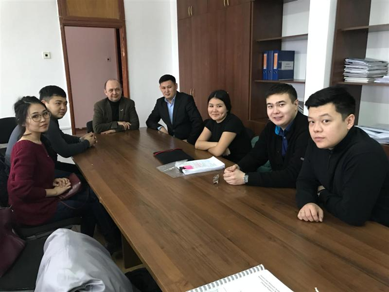 Meeting with professor of Columbia University Rafiz Abazov