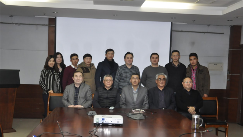 Teachers and young scientists of the Kazakh language and literary faculty of the University of Minzu