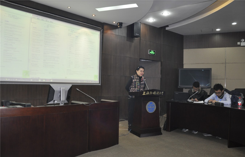 At the first scientific seminar at the Shanghai University of Foreign Languages, Professor H. Karabaeva made a presentation