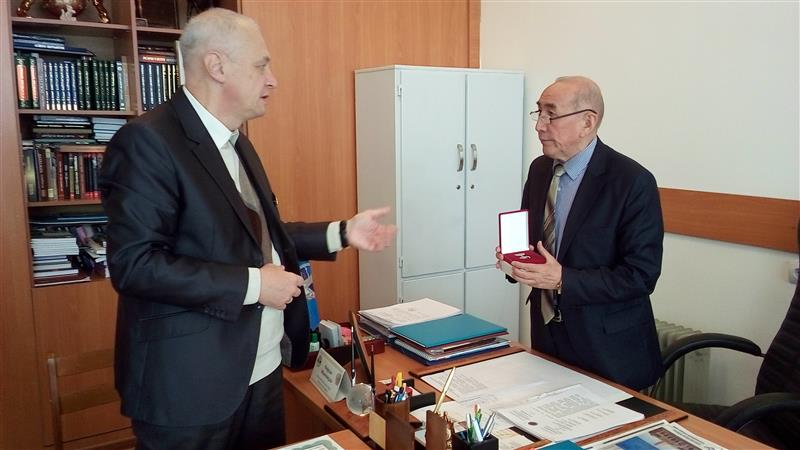 The visit to Kazakh National University of the President of International Academy of Literature and Art of Ukraine S.V. Dzuba