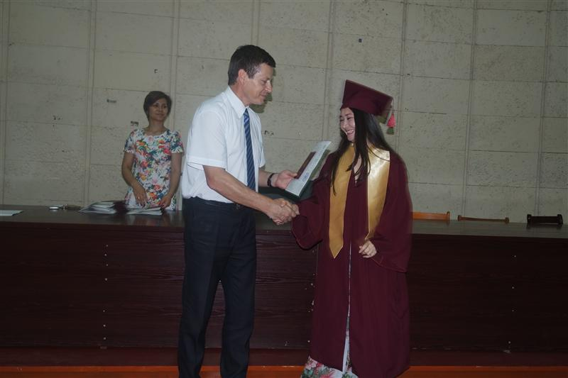 Ceremony of awarding diplomas