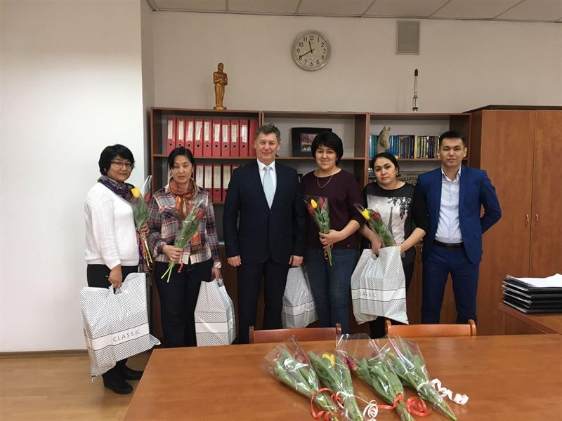 Congratulation of the dean of the faculty