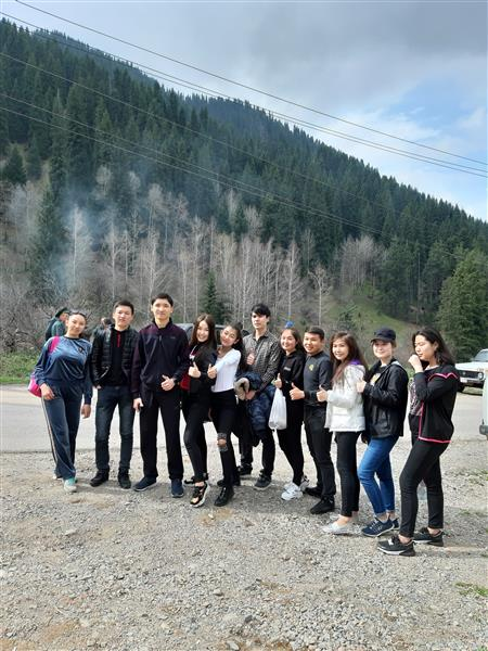 First-year students of speciality Ecology with the adviser of the group visited to the action