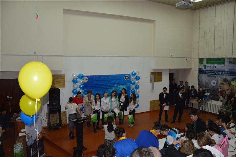 "Rewarding winners with gifts from the sponsor JSC ""Sberbank"" at the VIII Republican subject Olympiad"