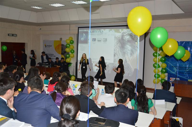 Participants presentation of their teams on the VIII Republican subject student Olympiad