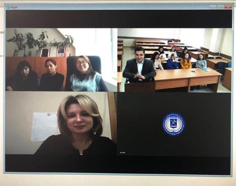 "Teleconference with the participation of BelSU, Kursk State University, KazNU named after al-Farabi. Theme: ""Public Administration in the EAEU""."