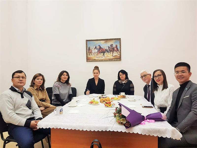 Meeting with actress Almira Tursyn