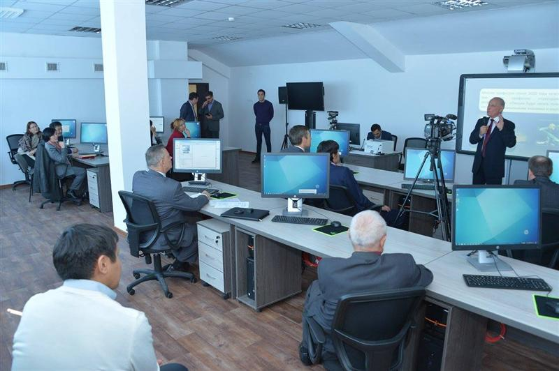 In the opening ceremony of the distance learning system center