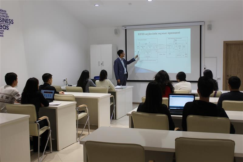 Classes at the Samsung Innovation Academy at KazNU