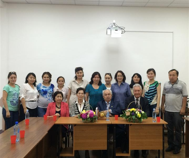 Department staff meeting with academician A.K. Koshanov