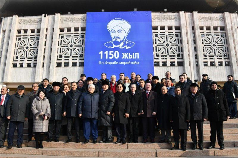 The official opening ceremony of the 1150th anniversary of al-Farabi was held at the KazNU students ' Palace. In a solemn event dedicated to the 1150th anniversary of al-Farabi, participate State Secretary of Kazakhstan G. Kusherbayev, akim of Almaty B. S