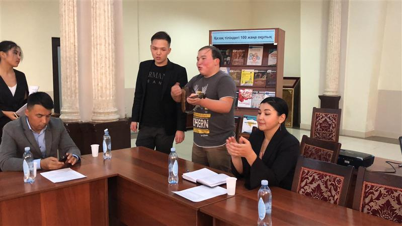 The curatorial hour devoted to Day of languages of people of Kazakhstan
