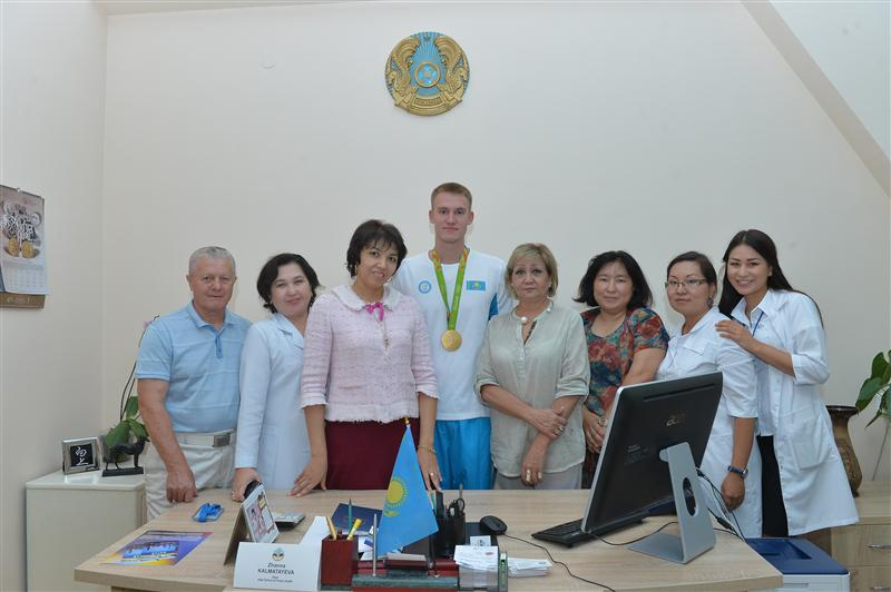 September 7, 2016 at the Medical Faculty of Kazakh National University of Physical Education and Sports Department organized a meeting of teachers and students of the winner of the Olympic Games 2016 Dmitry Balandin. D.Balandin