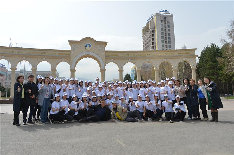 Students in the framework of the fitness festival promoted a healthy lifestyle.