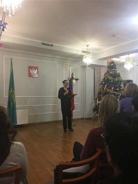 "Annual meeting ""At the fireplace"" in the Consulate General of the Russian Federation"